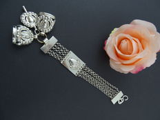 Silver 835 kt antique watch chain, 20.1 cm.