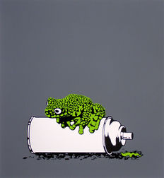 Alex Zanda - Frog on a spray can/Leaf Green