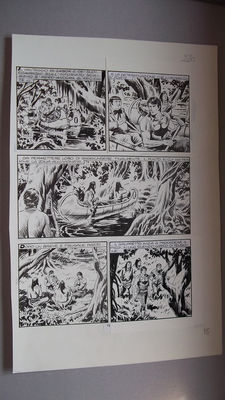 "Torricelli, Marco - original plate for ""Zagor"" no. 359, page 15 - (1991)"
