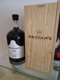 10 year old Tawny Port Graham's - 4.5 liter in luxury wooden box, also with spout