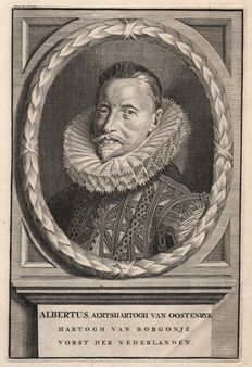 Unknown - Portrait of Albrecht VII of Austria (1559 - 1621) - Governor of the Southern Netherlands - 1681