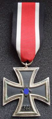 "Germany. Iron Cross 2nd class 1939. WWII. Round ""3"". Very rare version."