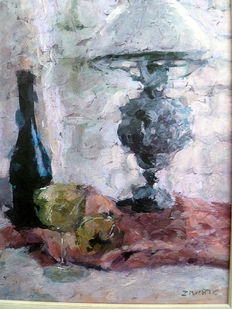 Zoran Zivotic (1962) - Still Life with old lamp