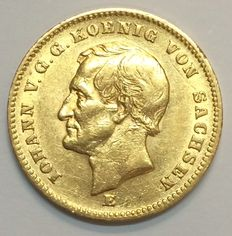 Germany, Saxony – 20 Mark 1872 E –  gold