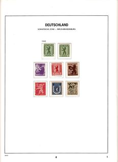 GDR of East Germany - Collection in 3 Davo albums