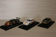 Minichamps - Scale 1/43 - lot with 3 models: 2 x Porsche 911 Supercup 1994 #17 & #10 & 1 x Porsche 911 GT3 Cup  24h Daytona 2005 #71