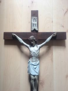 Woodcarving Crucifix European previous century