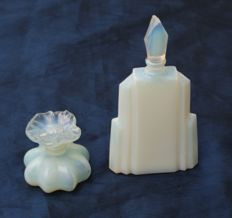 Sabino and Chapart - Two opalescent perfume bottles