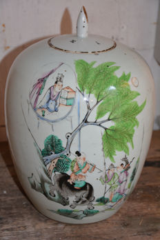 Chinese famille ginger jar with a décor of playing children – China – early 20th century (Republic period)