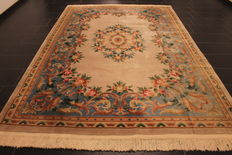 Prachtvoller China Art Deco Aubusson Teppich Orientteppich um 1980 Made in China 215cm X310cm