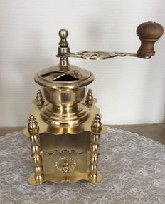 Luxurious brass coffee grinder, France, 20th century