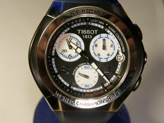 "Tissot men's boxed ""ice hockey"" wrist watch with date  model: T010.417.17.057.00"