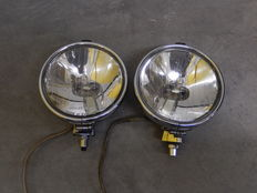 A Pair of Chrome 1970's Lucas FT / LR 10 Spot lights in Good Used Vintage Condition