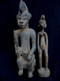 Set of two Senoufo figurines - Ivory Coast