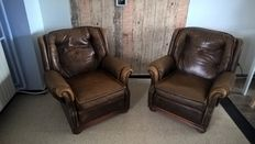 Two Art Forma International club chairs, second half 20th century