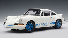 AUTOart - Scale 1/18 - Porsche 911 Carrera RS 2.7 1973 - Colour: White with blue stripes