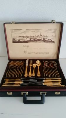 Cutlery Solingen 23/24k Gold 70 Pieces
