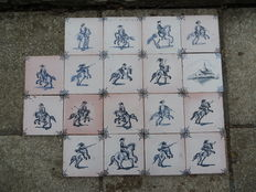 Rider tiles - 18 pieces - ca. 1920 The Netherlands