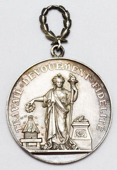 France - Medal 'Trade & Industry' attributed to Mme Vigneron 1893 - Silver
