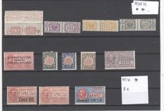 Italy 1920, small lot on stock card.