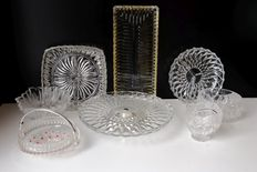 Collection 8 crystal dishes