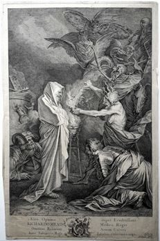 Andrew Lawrence (1708 - 1747) after an painting by S.Rosa -   Saul and the witch of Endor  - c.1730