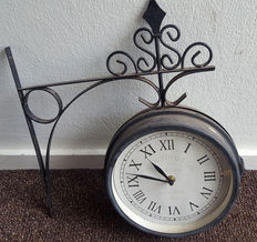 Double Sided Kensington Station  Outdoor Wall Clock