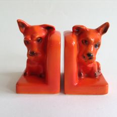 Goebel - Two bookends with terriers