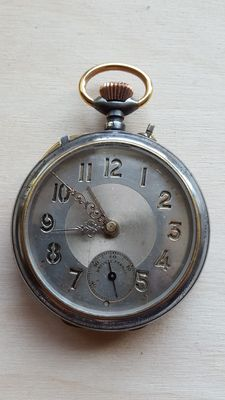 Brevete France Et... alarm pocket watch - possibly for the military