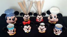 Disney, Walt - 8-piece Kitchen set - Mickey & Minnie Mouse (1980s/90s)