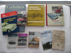 Lot of 10 exclusive car books / instruction booklet