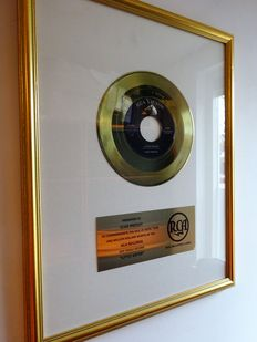 Elvis Presley Gold RCA In-house Record Award - Little Sister
