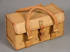 Authentic full leather tool bag or mechanic case, from 1958, Great Britain