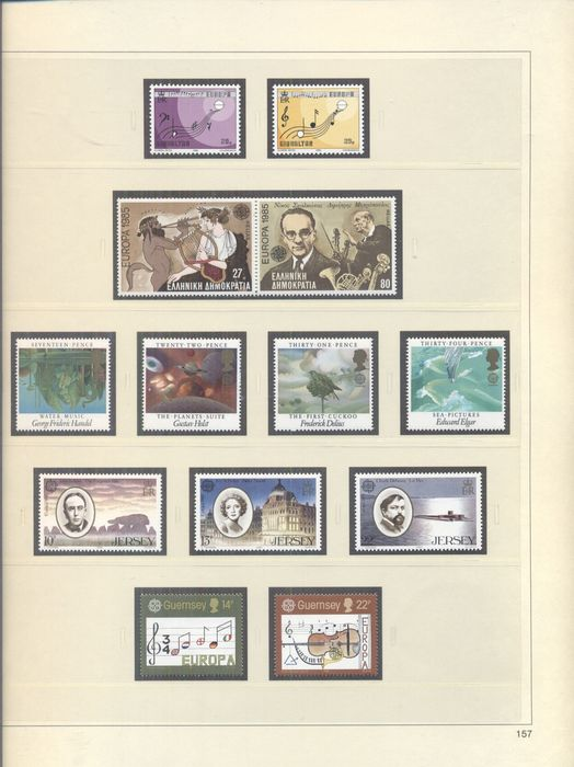 Europe 1956/1995 - Collection in Davo and Safe album and on sheets