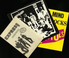 "Punk lot: Speedtwins ""It's more fun to compete"" brown color press w/ rare insert + Sex pistols ""Never mind the bollocks"" on yellow vinyl"