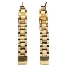 14 kt yellow gold Rolex link earrings – Length: