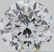 0.50CT D/VVS1 GIA Certified round brilliant cut diamond - Laser inscribed - Original image 10X