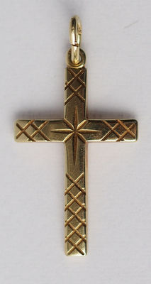 Gold cross, 14 kt