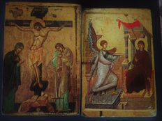 Crucifixion 13th century / National Museum Ohrid / Macedonia & The Annunciation from Ohrid, Macedonia.