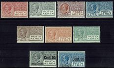 Kingdom of Italy, 1926-28 – Airmail – two complete series