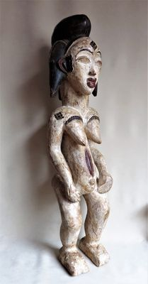 Punu/Lumbu ritual female figure from Africa.
