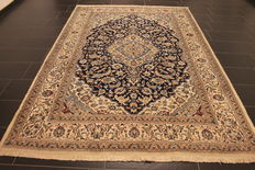 Beautiful fine Persian palace carpet Nain silk carpet, cork wool with silk. Made in Iran, Nain province, 200 x 300 cm