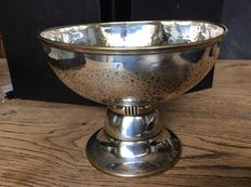 Trophy bowl, silver plated/gilded, marked N Gero 90 D, Netherlands first half 20th century