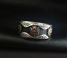 Islamic Ottoman tughra 925 silver ring – size: 21.30 mm