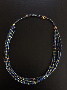 Egyptian Mummy Beads 5 Strands Necklace - 18 Inches