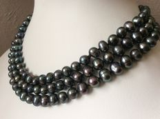 """Necklace with freshwater baroque pearls - 124 cm/49"""""""