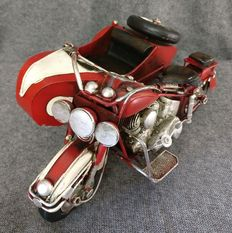 Tin sidecar, hand painted and handcrafted - Italy - 1950.