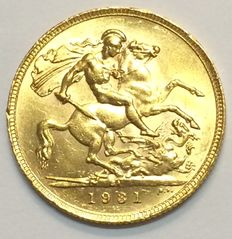 United Kingdom - Sovereign 1931 George V - goud
