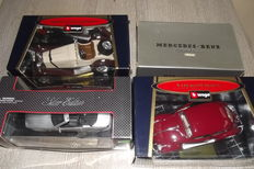 'Bburago / Ricko / Maisto - Scale 1/18 - Lot with 5 models: 1 x VW & 4 x Mercedes-Benz