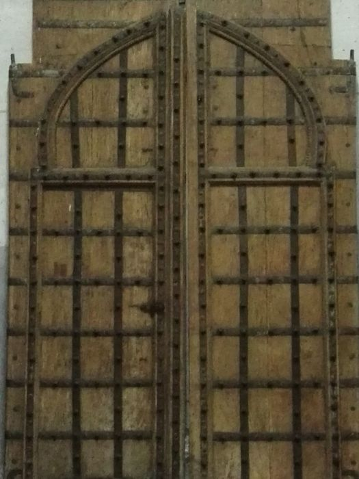 Door with Mudejar tradition in wood and fittings in iron and bronze, Spain, probably 16th/17th centuries with later alterations